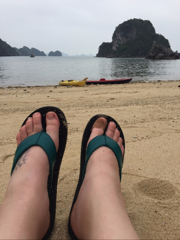 swollen feet and kayak